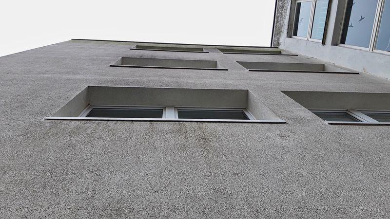 Zu geringer Überstand Fensterbank zur Fassadenfläche